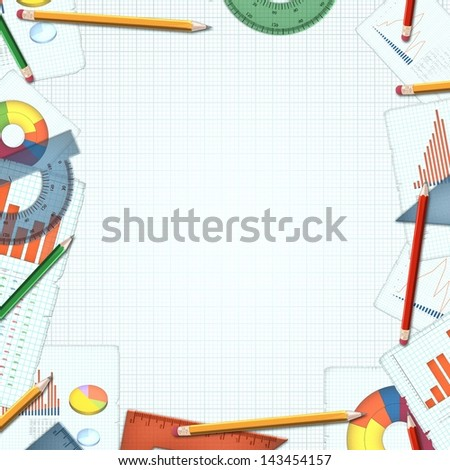 financial accountant business colorful background illustration - stock photo