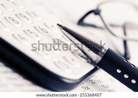 Financial accounting  - stock photo