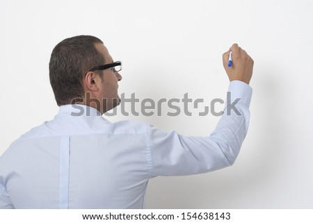 Financial Advisor explains the financial situation - stock photo