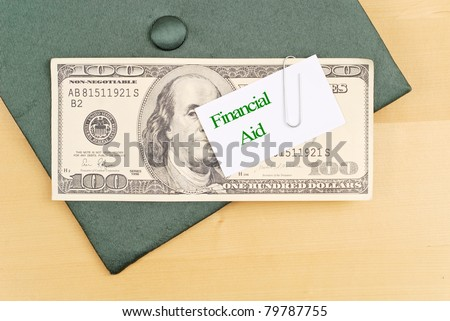 Financial Aid Money - stock photo