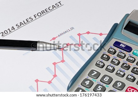 Financial and economic growth - stock photo