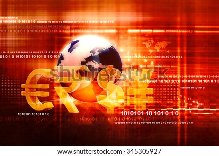 Financial background - stock photo
