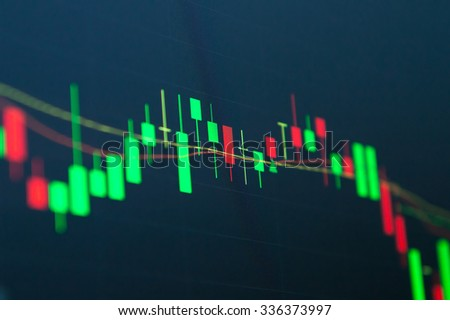 Financial background stock market graph - stock photo