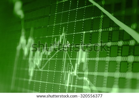 Financial background.Stock market graph and bar chart price display. Data on live computer screen. Display of quotes pricing graph visualization. Abstract financial background trade colorful  - stock photo