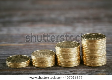 Financial background with ukrainian money - stock photo
