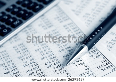 Financial balance. - stock photo