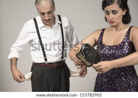 Financial crisis - stock photo