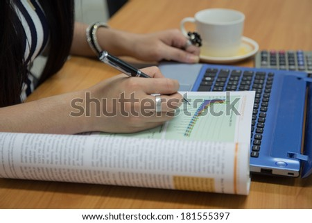 Financial data analyzing  - stock photo
