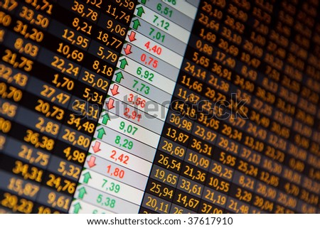 Financial data- company balance - stock photo