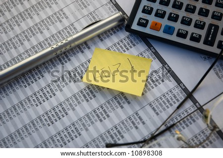 Financial difficulty - stock photo
