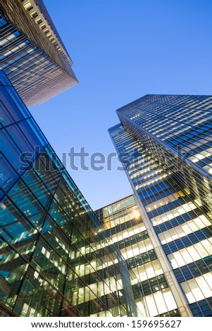 financial district of Skyscraper office building in London City  - stock photo