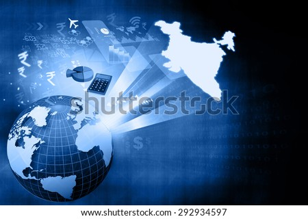 Financial growth of Indian economy  - stock photo
