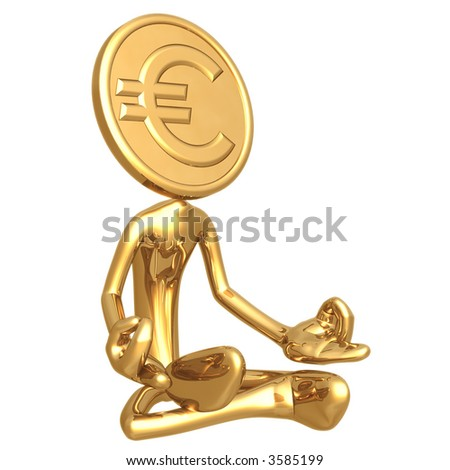 Financial Guru Gold Euro Coin - stock photo