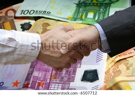 Financial handshake - stock photo