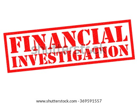 FINANCIAL INVESTIGATION red Rubber Stamp over a white background. - stock photo