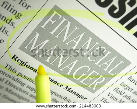 Financial Manager (Classifieds)   - stock photo
