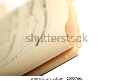 Financial newspaper isolated on white background. - stock photo