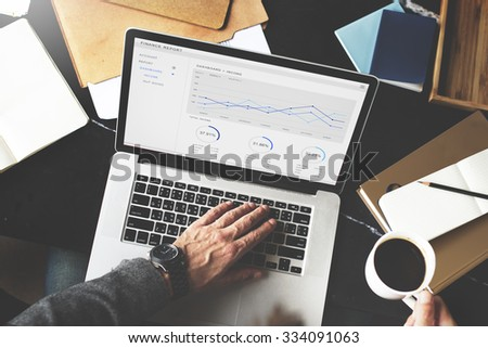 Financial Report Revenue Statistical Accounting Concept - stock photo