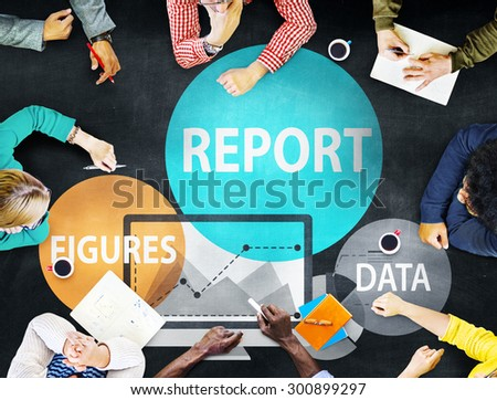 Financial Report Strategy Tactics Information Concept - stock photo