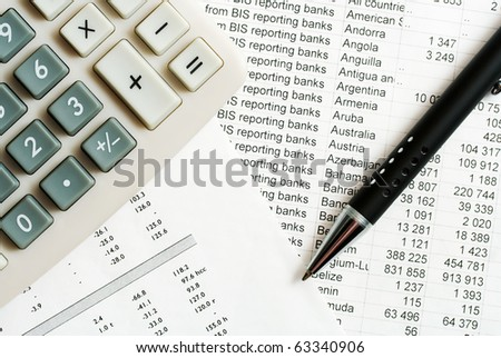 Financial reports. - stock photo