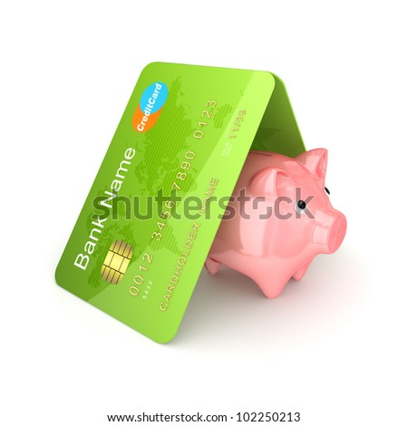 Financial safety concept.Isolated on white background.3d rendered. - stock photo