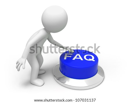 Find answer s /A man is pushing the button - stock photo