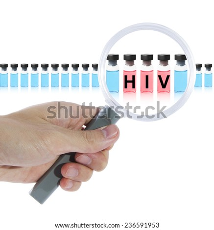 Find HIV vaccine - stock photo