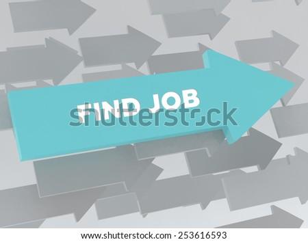 FIND JOB - stock photo