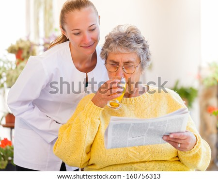 Find the right home care services for you - stock photo
