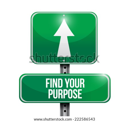 find your purpose sign illustration design over a white background - stock photo