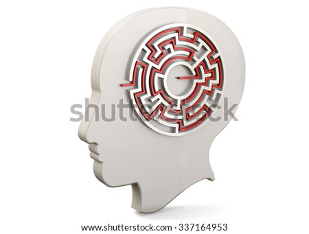 Find Yourself Concept - 3D - stock photo