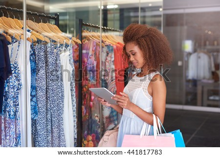 Finding the next sale online - stock photo