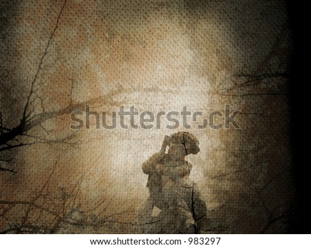 Fine art illustration - Fallen angel - stock photo