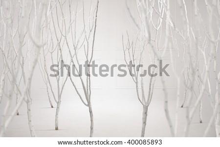Fine art photo of a dreamy white background - stock photo
