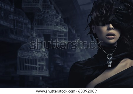 Fine art photo of a glamour woman - stock photo