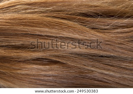 Fine brown hair, as a background. - stock photo