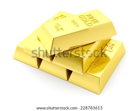 Fine Gold Bars - stock photo