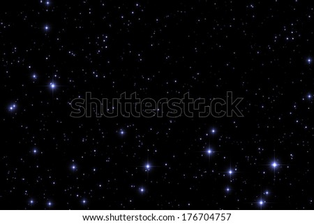 Fine-shaped stars on a black clipping background. - stock photo