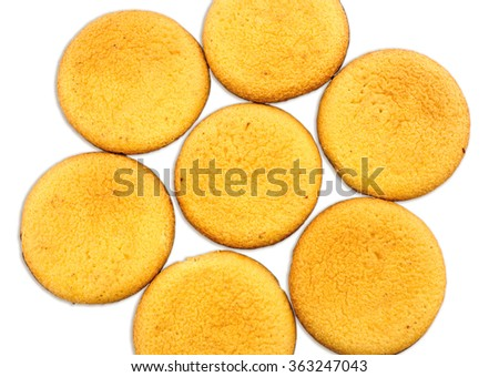 Finger biscuit cookies in circle closeup - stock photo