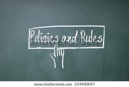 finger click policies and rules symbol - stock photo