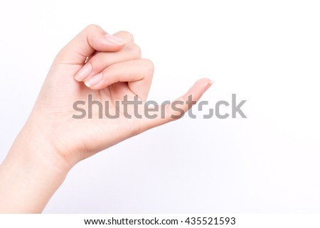 finger hand girl symbols isolated concept hook each other's little finger is mean to reconcile or promise or friendship on white background  - stock photo