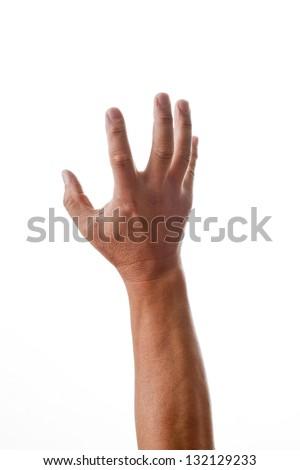 Finger pose - stock photo