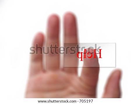 finger pressing button - stock photo