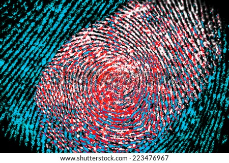 fingerprint  - stock photo