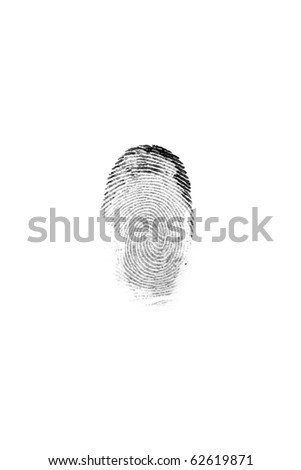 fingerprint isolated - stock photo