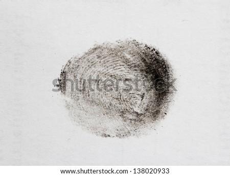 fingerprints on a white background - stock photo