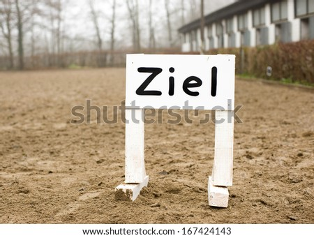Finish sign in German language - stock photo