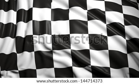 Finishing checkered flag - stock photo