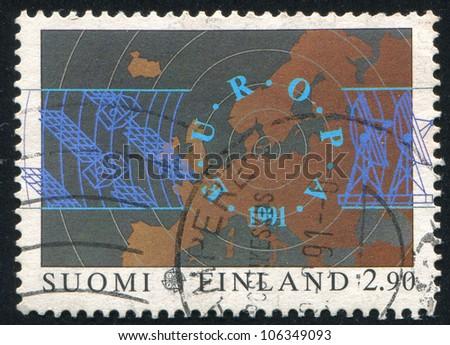 FINLAND - CIRCA 1991: A stamp printed by Finland, shows Europa, circa 1991 - stock photo