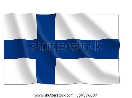 Finland flag - stock photo